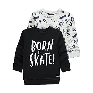 Assorted Skater Print Sweatshirts 2 Pack