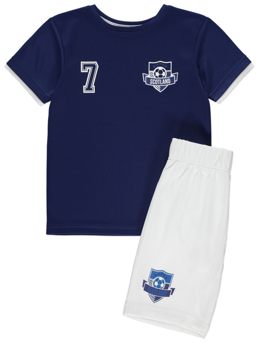Scotland Football T Shirt And Shorts Set Kids George