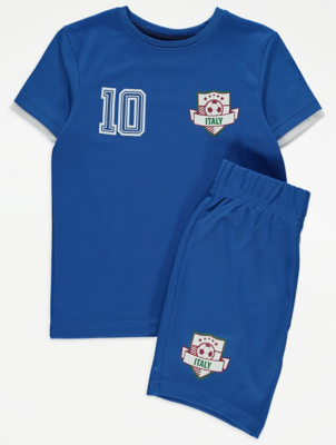 Italy Football T-Shirt and Shorts Set