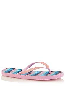 a1d3897035d Pink Glittering Flip Flops