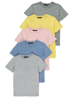 Textured Short Sleeve Tops 5 Pack