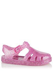 101e04778189 Pink Light Up Glitter Jelly Sandals