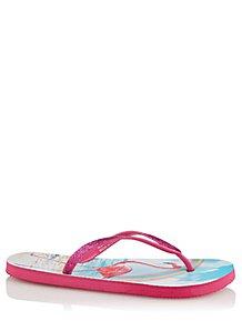 f96501487 Pink Shimmering Flamingo Flip Flops
