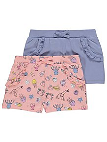 443a6d4cd17 Assorted Bow Detail Shorts 2 Pack