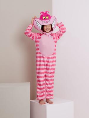 Alice In Wonderland Cheshire Cat Fancy Dress Costume