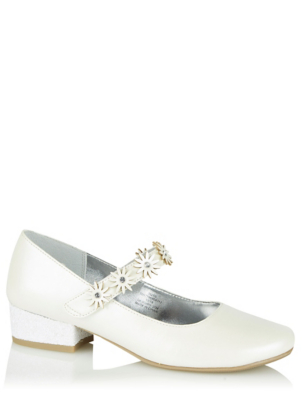 White Mid Heel Shoes