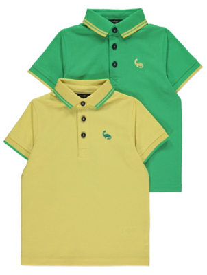 Assorted Short Sleeve Polo Shirts 2 Pack
