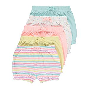 Pastel Bloomer Shorts 5 Pack