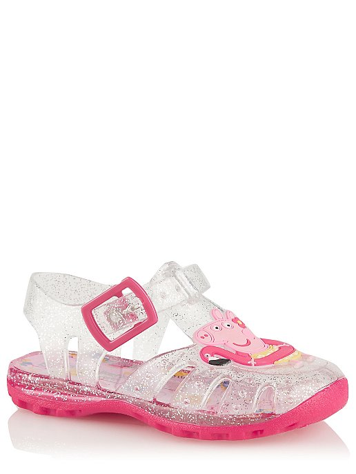 d8e308250491 First Walkers Peppa Pig Jelly Sandals
