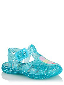 b95c74d2b146 First Walkers Blue Glitter Ice Cream Jelly Shoes