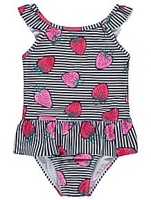 Navy Striped Strawberry Swimsuit 1428ef669