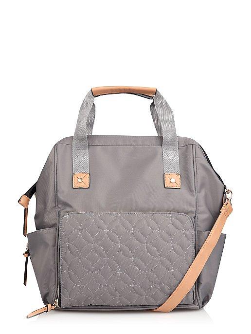 Grey Multi Function Baby Change Backpack Style Bag