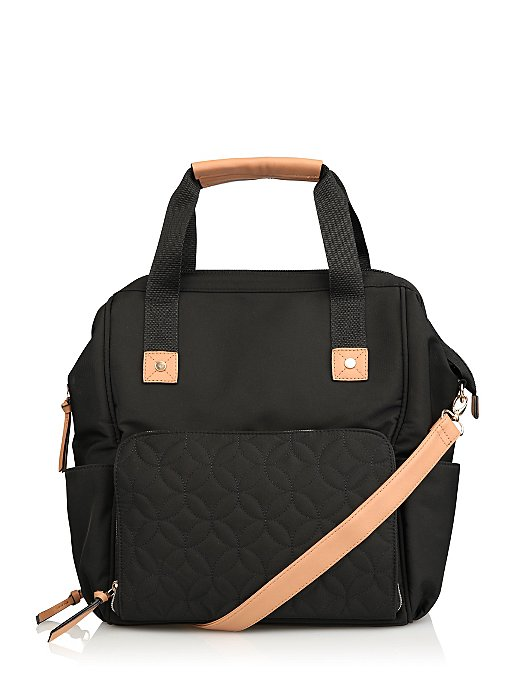 002229eb91 Black Multi-Function Baby Change Backpack-Style Bag