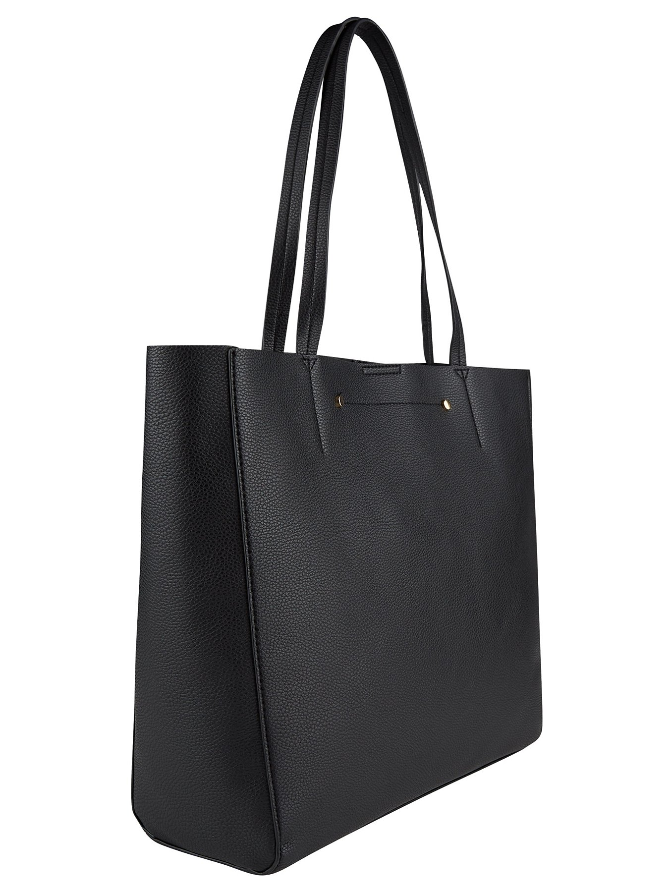Black Double Stud Tote Bag