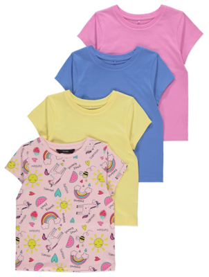 Assorted Short Sleeve Tops 4 Pack
