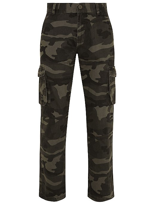 purchase authentic beauty the sale of shoes Khaki Camo Cargo Trousers