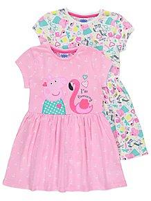 Peppa Pig Unicorn Jersey Dresses 2 Pack 21413c657