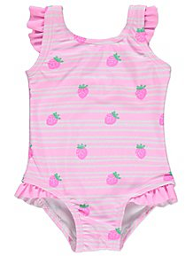 2bd65152e8 Disney Aristocats Marie Sun Protection Swimsuit and Hat. (7). Pink  Strawberry Frill Swimsuit