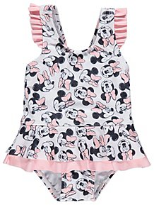 94a30ae4b9 Floral Sunshine Sun Protection UV40 Swimsuit and Hat Set. (11). Disney  Minnie Mouse Swimsuit