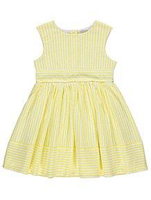6d1984b5d3bb79 Yellow Candy Stripe Sleeveless Dress
