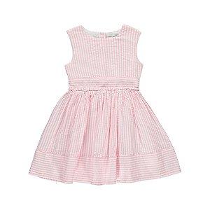 Pink Candy Striped Sleeveless Dress