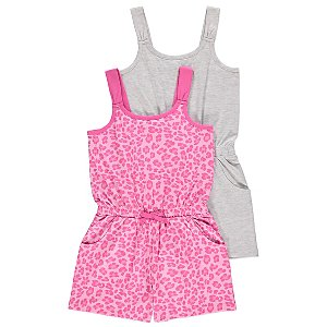 Assorted Jersey Playsuits 2 Pack