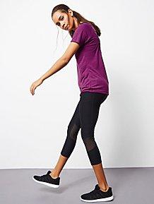 57f3c80a6e Black Cropped Ultimate Mesh Panel Sports Legging