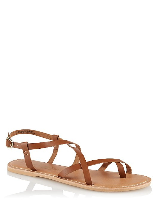 05866c56cbf Wide Fit Brown Leather Strappy Sandals