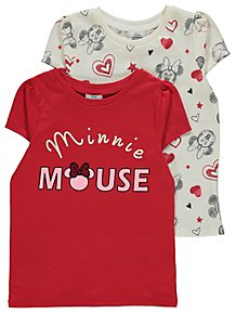 85dac76dc99 Disney Minnie Mouse Short Sleeve Tops 2 Pack