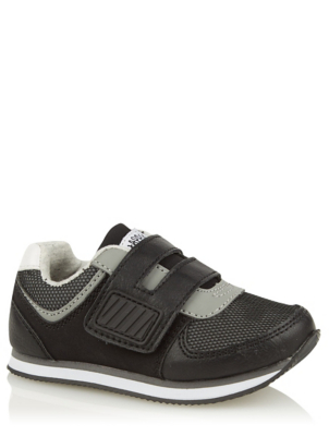 First Walkers Black 1 Strap Trainers