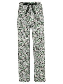 Green Soft Touch Floral Jersey Pyjama Bottoms f3ff93538
