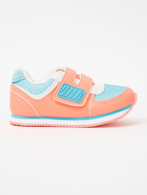 First Walkers Pink Retro 2 Strap Trainers
