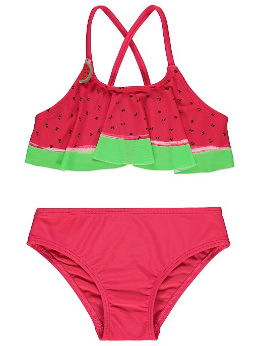 9a2a8e90130b3 Pink Watermelon Print Bikini Set | Kids | George