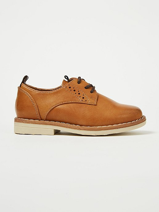16ca6b373c2afb Tan Lace Up Derby Shoes | Kids | George