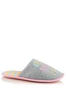 1eaa1be14f0 Grey Best Mum Ever Mule Slippers