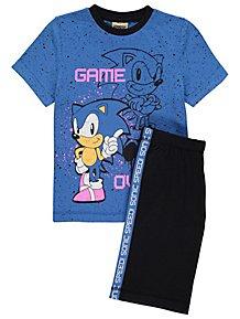 2636e3fdfa Sonic the Hedgehog Game Over Slogan Short Pyjamas. From £10