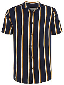 880a6a439394 Navy Lightweight Striped Shirt