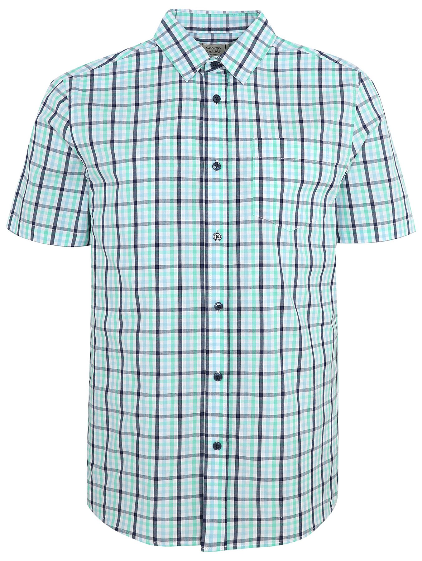 top quality affordable price top brands Asda George Mens Short Sleeve Shirts | Coolmine Community School
