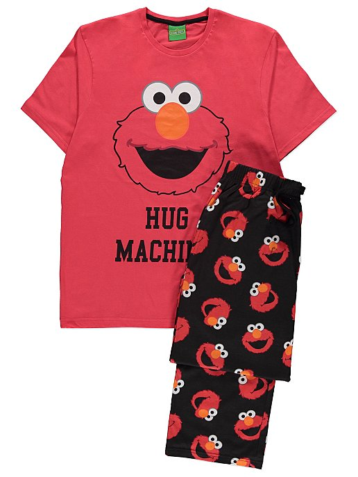 entire collection new collection differently Sesame Street Elmo Red Slogan Pyjamas