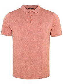 bcbf394d52b3 Dusty Red Short Sleeve Knitted Polo Shirt