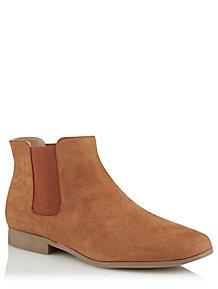 20d5042f743 Tan Faux Suede Chelsea Boots