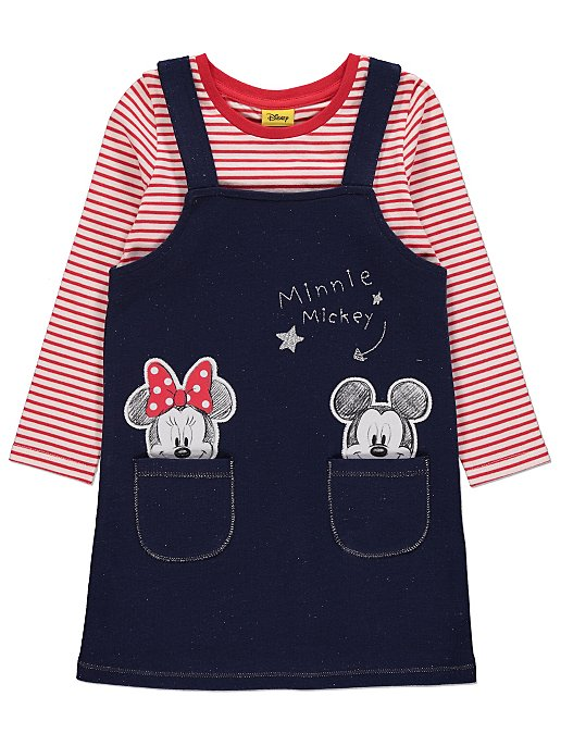 fa79a7bc76c75 Disney Minnie Mouse Pinafore and Striped Top | Kids | George