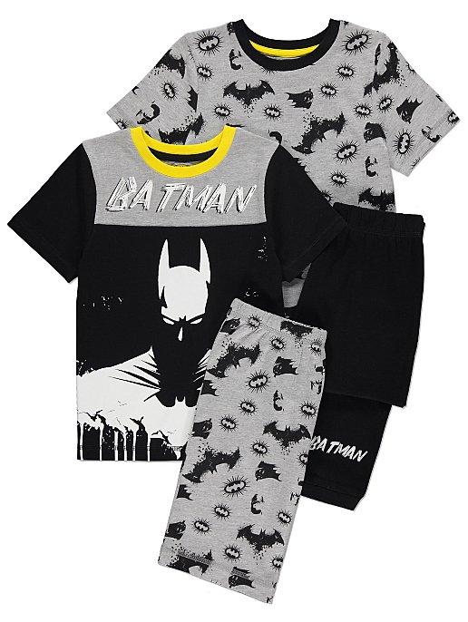 81fa5108 DC Comics Batman Short Sleeve Pyjamas 2 Pack | Kids | George