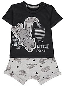 c32bdfe0eadf Disney Dumbo Charcoal Top and Shorts Outfit