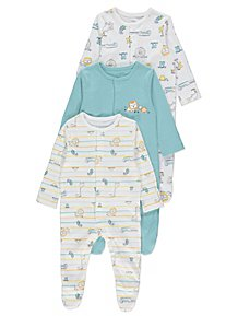 f0aec3a75 Baby Girls Sleepsuits & Pyjamas | George at ASDA