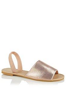 d58022189ecf Pink Shimmering Open Toe Sandals