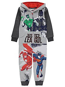 096a374e17 DC Comics Justice League Grey Hooded Onesie