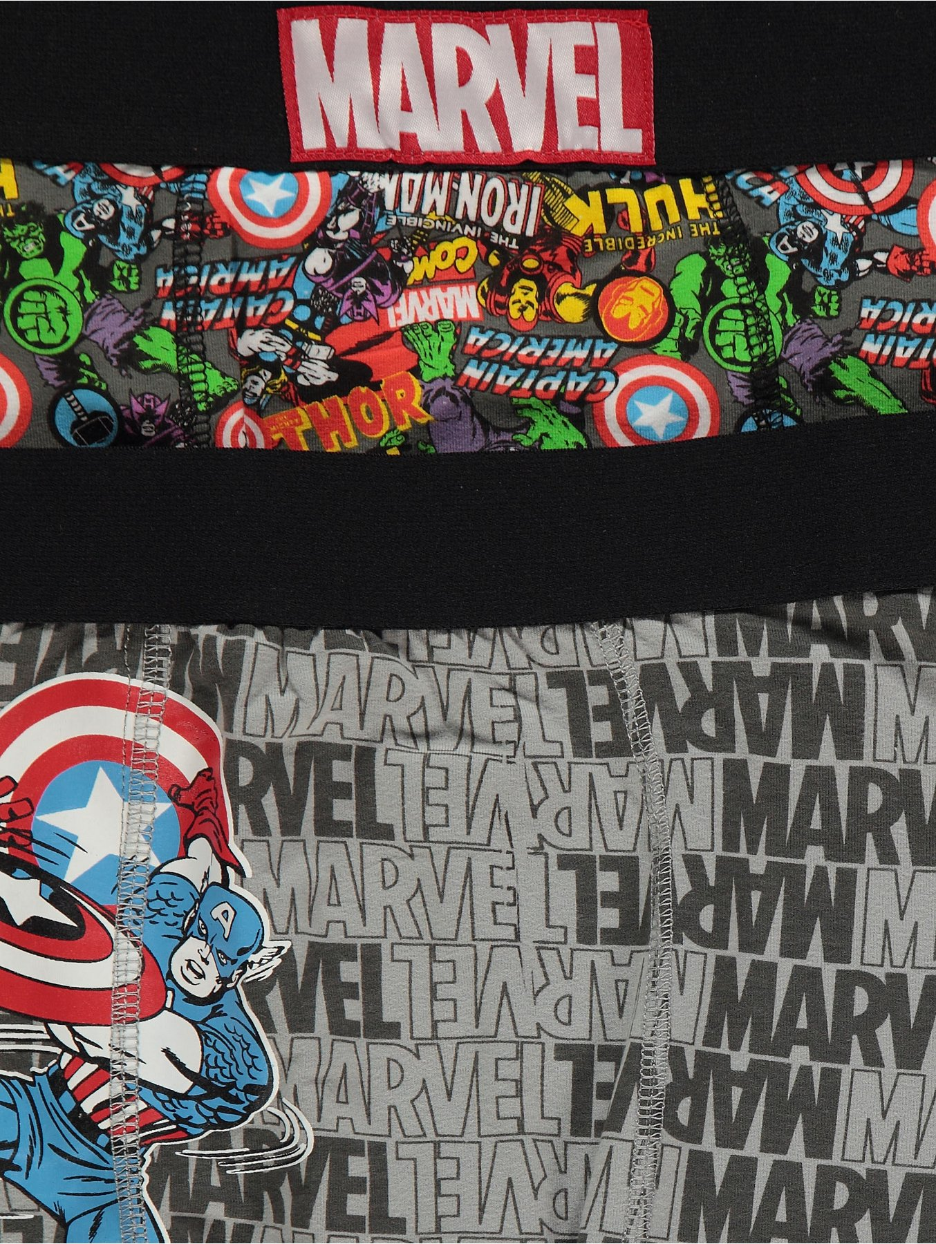 2a74b4f4f6 Marvel Comics Character Print Hipster Trunks 2 Pack | Men | George
