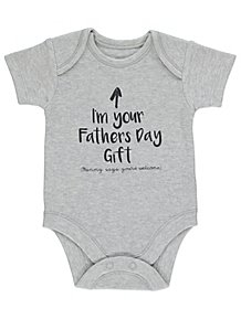 e257eb596f46 Grey Father s Day Slogan Bodysuit