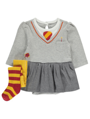 Wonderful Harry Potter Hermione Skirted Bodysuit And Tights Outfit   Baby   George